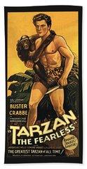 Tarzan The Fearless  Beach Towel