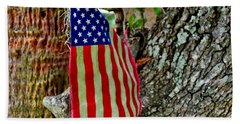 Tattered America Beach Towel