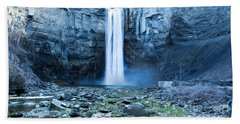 Taughannock Falls In Spring Beach Towel