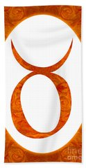 Taurus And Sacral Chakra  Abstract Spiritual Artwork By Omaste W Beach Towel