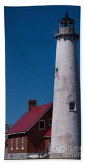 Beach Sheet featuring the photograph Tawas Point Lighthouse by Patrick Shupert