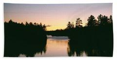 Tea Lake Sunset Beach Towel
