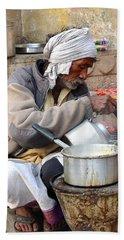 Tea Stall On The Ghats  - Varanasi India Beach Sheet