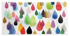 Tears Of An Artist Beach Towel by Linda Woods