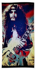 Ted Nugent - Red White And Blue Beach Towel by Absinthe Art By Michelle LeAnn Scott