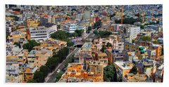 Tel Aviv Eagle Eye View Beach Towel by Ron Shoshani