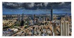 Beach Towel featuring the photograph Tel Aviv Love by Ron Shoshani