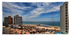 Beach Towel featuring the photograph Tel Aviv Summer Time by Ron Shoshani