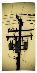 Telephone Pole 3 Beach Towel