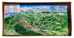Telluride Ski Map Detail  Beach Towel