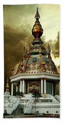 Temple Of Clouds  Beach Towel