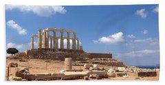 Temple Of Poseidon Beach Towel