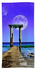 Temple Of The Atlantic Beach Towel