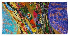 Beach Sheet featuring the tapestry - textile Temple Of The Goddess Eye Vol 1 by Apanaki Temitayo M