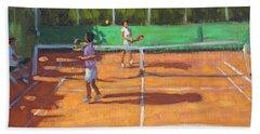 Tennis Practice Beach Sheet by Andrew Macara