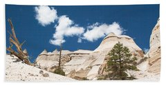 Beach Towel featuring the photograph High Noon At Tent Rocks by Roselynne Broussard