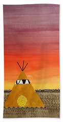 Tepee Or Not Tepee Original Painting Beach Sheet