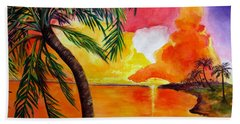 Tequila Sunset Beach Towel