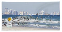 Terns On The Move Beach Towel