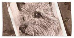 Terrier As Optical Illusion Beach Towel