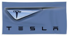 Tesla Model S Beach Towel by David Millenheft