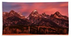 Beach Sheet featuring the photograph Teton Color by Benjamin Yeager