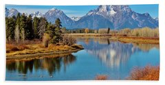 Beach Sheet featuring the photograph Teton Tranquility by Benjamin Yeager