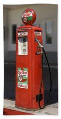 - Tokheim Gas Pump Beach Towel by Mike McGlothlen