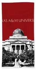 Texas A And M University - Dark Red Beach Towel