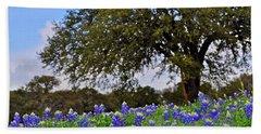 Texas Bluebonnet Field Beach Sheet