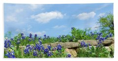 Texas Bluebonnets 08 Beach Towel by Robert ONeil