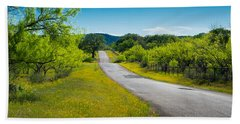 Texas Hill Country Road Beach Towel