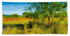 Texas Hill Country Wildflowers Beach Sheet