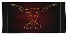 Texas Longhorn Photoart 1 Beach Towel