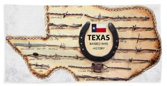 Texas Old-west Barbed Wire Beach Towel