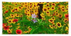 Texas Spring Delight Beach Towel