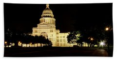 Beach Towel featuring the photograph Texas State Capitol by Dave Files