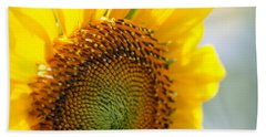 Texas Sunflower Beach Towel