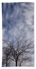 Texas Winter Clouds Beach Towel