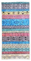 Beach Sheet featuring the painting Textile #1 by Rebecca Davis
