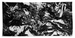 Textured Black And White Series 1 Beach Towel
