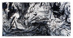 Textured Black And White Series 2 Beach Towel