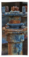 Texturized Pipe Beach Towel