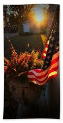 Beach Towel featuring the photograph Thank You For Serving by Robert McCubbin