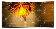 Thanksgiving Card Beach Towel