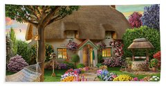 Thatched Cottage Beach Towel by Adrian Chesterman