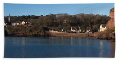 Thatched Cottages In A Town, Dunmore Beach Towel