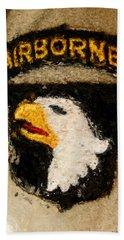 The 101st Airborne Emblem Painting Beach Towel