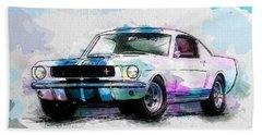 The 1965 Ford Shelby Gt 350  Beach Towel