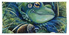 The Acorn Beach Towel by Gail Butler